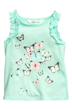 無袖上衣 - Mint green/Butterflies - Kids | H&M 2