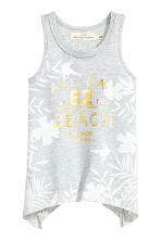 Slub jersey top - Light grey marl - Kids | H&M CN 1
