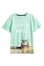 Printed T-shirt - Mint green - Kids | H&M CN 2
