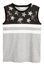 Printed vest top - Grey marl/Stars - Kids | H&M 2