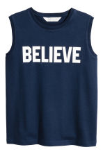 Printed vest top - Dark blue -  | H&M 2