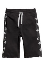 Sweatshirt shorts - Black/Stars - Kids | H&M 2