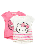 2-pack jersey tops - Pink/Hello Kitty - Kids | H&M 2
