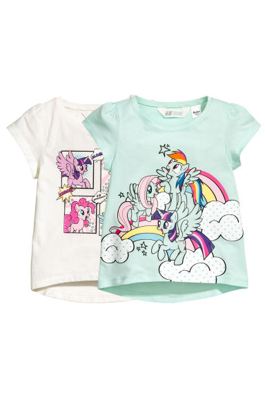 Top in jersey, 2 pz - Verde menta/My Little Pony - BAMBINO | H&M IT 1