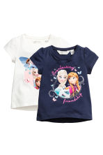 2-pack jersey tops - Dark blue/Frozen - Kids | H&M 2