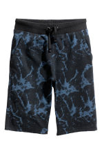 Shorts in felpa - Nero/blu -  | H&M IT 2