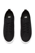 Sneakers in twill - Nero - DONNA | H&M IT 3