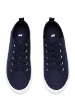 Twill trainers - Dark blue - Ladies | H&M 2