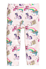 3/4-length leggings - Light pink/My Little Pony - Kids | H&M 3