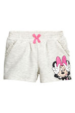 Printed shorts - Light beige/Minnie Mouse - Kids | H&M CN 2