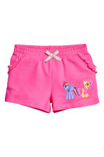 Printed shorts - Cerise/My Little Pony - Kids | H&M CN 2