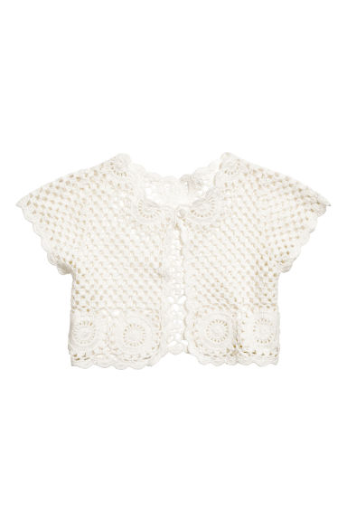 Crocheted bolero - Natural white - Kids | H&M 1