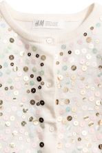 Cardigan with sequins - Natural white/Gold - Kids | H&M CN 3