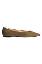 Ballet pumps - Khaki green - Ladies | H&M 1