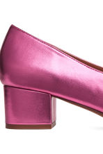 Mocassini con tacco squadrato - Cerise/Metallic - DONNA | H&M IT 4