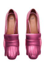 Block-heeled loafers - Cerise/Metallic - Ladies | H&M GB 2