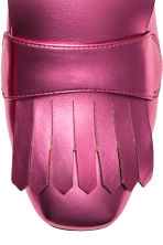 Block-heeled loafers - Cerise/Metallic - Ladies | H&M GB 3