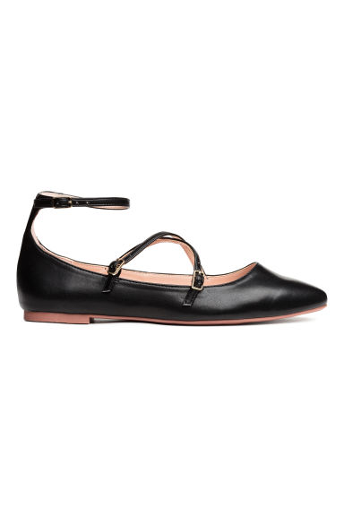 Flat strappy shoes - Black - Ladies | H&M CN 1