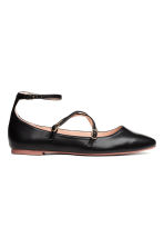Flat strappy shoes - Black - Ladies | H&M 1