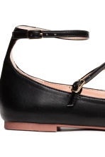 Flat strappy shoes - Black - Ladies | H&M 4