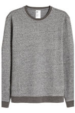Sweatshirt pyjamas - Dark grey marl - Men | H&M CN 3
