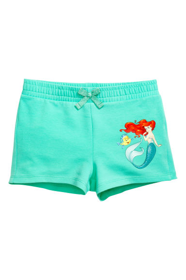 Jersey vest top and shorts - Mint green/The Little Mermaid - Kids | H&M 1