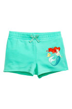 Jersey vest top and shorts - Mint green/The Little Mermaid - Kids | H&M 2
