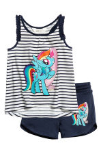 Jersey vest top and shorts - White/My Little Pony - Kids | H&M 2