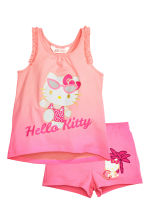 Top et short en jersey - Rose/Hello Kitty - ENFANT | H&M CH 3