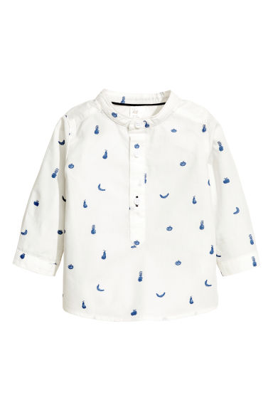 Patterned shirt - White/Fruit - Kids | H&M 1