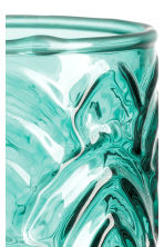 Glass tealight holder - Petrol green - Home All | H&M CN 2