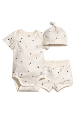 3-piece jersey set - Natural white - Kids | H&M 1