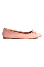 Suede ballet pumps - Light pink - Ladies | H&M 1