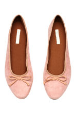 Suede ballet pumps - Light pink - Ladies | H&M 2