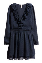 Plumeti chiffon dress - Dark blue - Ladies | H&M CN 2