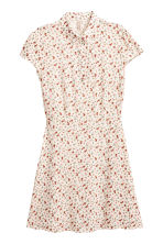 Crêpe dress - Natural white/Small floral - Ladies | H&M CN 2