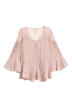 Wide chiffon blouse - Light old rose - Ladies | H&M 2