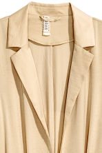 Long satin coat - Beige - Ladies | H&M CN 3