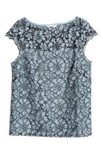 Lace top - Blue-grey - Ladies | H&M CN 2