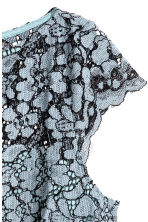 Lace top - Blue-grey - Ladies | H&M CN 3