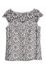 Lace top - Natural white - Ladies | H&M 2