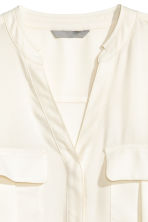 V-neck blouse - Natural white - Ladies | H&M CN 3