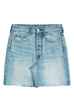 Denim skirt - Light denim blue - Ladies | H&M CN 2
