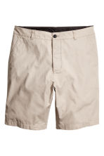 Knee-length cotton shorts - Beige -  | H&M CN 3