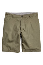 Knee-length cotton shorts - Khaki green - Men | H&M 2