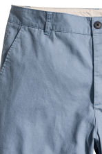 Knee-length cotton shorts - Pigeon blue - Men | H&M 3