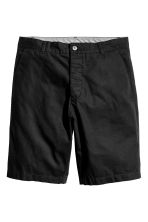 Knee-length cotton shorts - Black - Men | H&M CN 2
