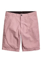 Knee-length cotton shorts - Dusky pink - Men | H&M 2