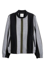 Jacquard-weave jacket - Black/Striped - Men | H&M 1