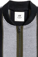 Jacquard-weave jacket - Black/Striped - Men | H&M 3